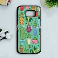 Patio Pattern Cactus Love Samsung Galaxy S7 Edge Case | armeyla.com