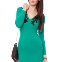 Motel Ginetta Dress in Jade  :: tobi
