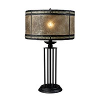 Dimond D1849 Legacies Mica Filagree Tiffany Bronze One-Light Table Lamp