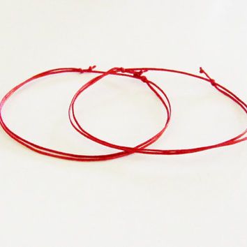 Kabbalah Anklet. Red String Evil Eye Adjustable Anklet.Good Luck Anklet. Protection. String of Fate. Dainty Anklet.Made in Canada.