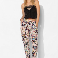 Pins And Needles Textured Knit Floral Pant - Urban Outfitters