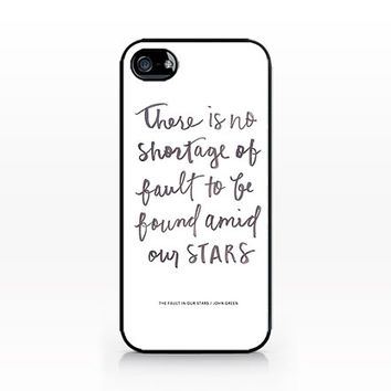 AWC-207-The Fault in Our Stars - Hard Plastic Case for iPhone 4/4S, 5/5S, Samsung s3/s4