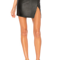 by the way. Trinity Faux Leather Skirt in Black