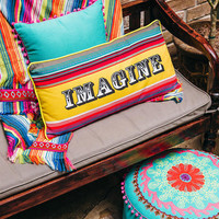 Imagine Colorful Stripe Pillow