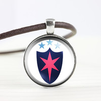 My little pony Shining armor wedding cutie mark MLP pendant leather necklace - ready for gifting - buy 3 get 4th one free