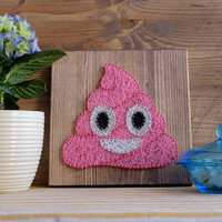 Pink Poop Emoji Wall Decoration, fun decoration.