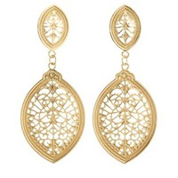 Gold Filigree Drop Earrings by Charlotte Russe