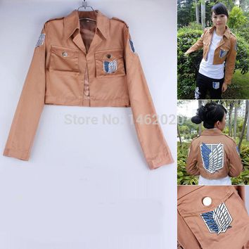 Cool Attack on Titan 2 Colors  Jacket no  jacket Legion Cosplay Costume Jacket Coat Any Size High Quality Eren Levi AT_90_11