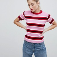 Daisy Street Knitted Jumper In Candy Stripe at asos.com