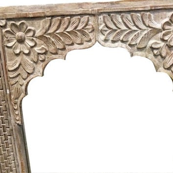 Antique Archway Carved Architectural Antique Carved Arch Room Divider Rustic Furniture