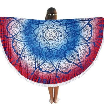 round beach throw tapestry hippy boho gypsy cotton table cover round tapestry wall hanging 70 gift  number 8