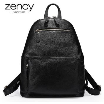 2017 Real Leather Large Backpack Luxury Brands Natural Genuine Leather Backpacks Cowhide Women Backpack Tote Bags Mochila