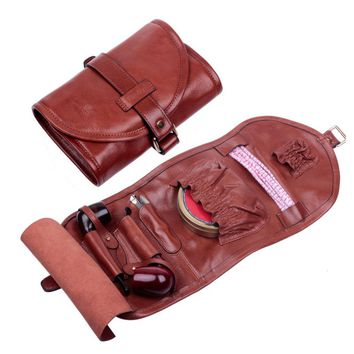 FIREDOG Vintage Style Leather Tobacco Pipe Pouch Smoking Pipe Pouch Bag Hold Pipe Tool lighter for Peterson MM Corn etc..
