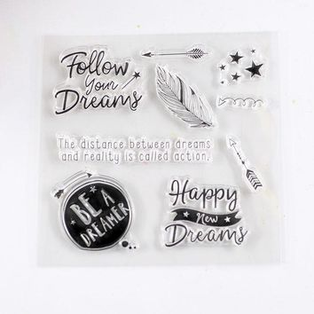 Coolhoo clear stamp Eco-friendly Transparent Stamp For DIY Scrapbooking/Card Making/ Decoration Supplies