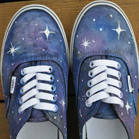 Galaxy Shoes by lhletsy on Etsy