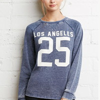 LA Graphic Heathered Sweatshirt