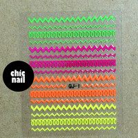 "SK006 """" Nail sticker ,style Nail art ,Nail Stickers,chevron"