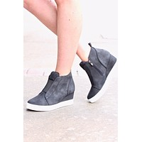 Zoey Wedge Sneakers {Black}