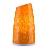 Hand Painted Blown Glass Shade Living Room LED Mobile Lamp Orange