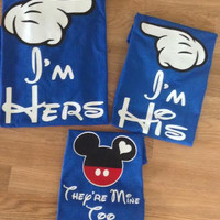 Free/Fast Shipping For I'm Hers/I'm His matching Family  Shirts