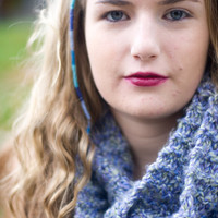 Super Soft Lavender Knit Infinity Scarf