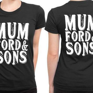 ESBH9S Mumford And Sons Title Large 2 Sided Womens T Shirt