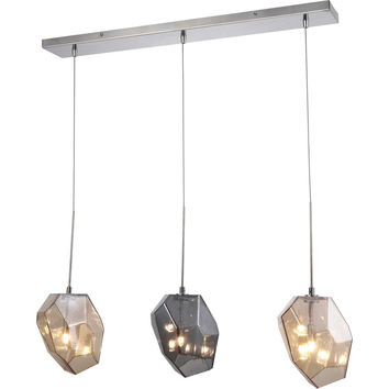 Gibeon 3-Light Chandelier, Polished Nickel Finish