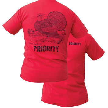 Southern Couture High Priority Wildlife Turkey Unisex Bright T Shirt