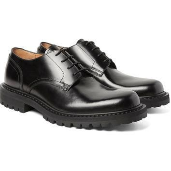 Dries Van Noten - Polished-Leather Derby Shoes