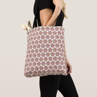 Flowers Design All-Over-Print Tote Bag