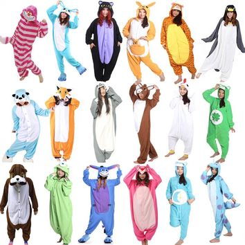 Animal Onesuit Cosplay Costume Adult Pajamas Fox Cow Duck Kangaroo Tiger Dog Rabbit Bear Cat Squirrel Penguin Donkey Pyjamas