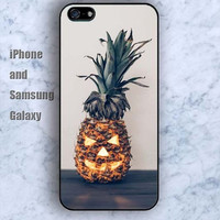 Pineapple Halloween iPhone 5/5S case Ipod Silicone plastic Phone cover Waterproof
