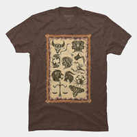 Zodiac Signs On Native Tribal Leather Frame T Shirt By BluedarkArt Design By Humans