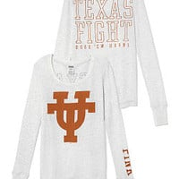University of Texas Long-sleeve Thermal Tee - PINK - Victoria's Secret