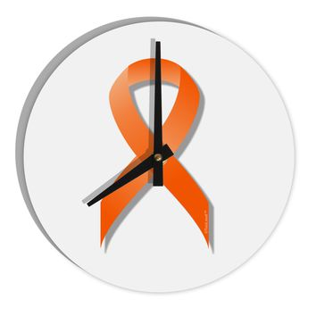 "Leukemia Awareness Ribbon - Orange 8"" Round Wall Clock"