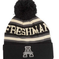 BLACK 'AMERICAN FRESHMAN' BEANIE - Winter Accessories  - Shoes and Accessories
