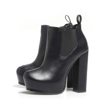 Platform Ankle Chunky Heel Boot