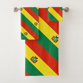 Bolivia, flag bath towel set