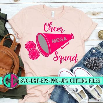 Cheerleader megaphone svg, Cheer squad svg, cheerleader svg, football SVG, cheerleading, cheerleader cut file, Cheer Mom SVG, svg for cricut