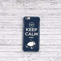 Pokemon Keep Calm iPhone 5 5c 6 6plus and Samsung Galaxy S5 Case