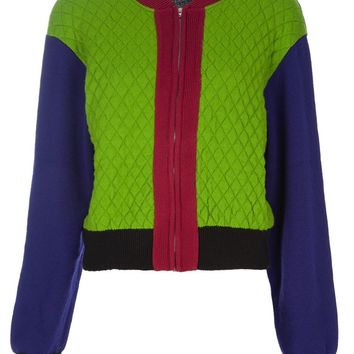 Jean Paul Gaultier Vintage block colour quilted jacket