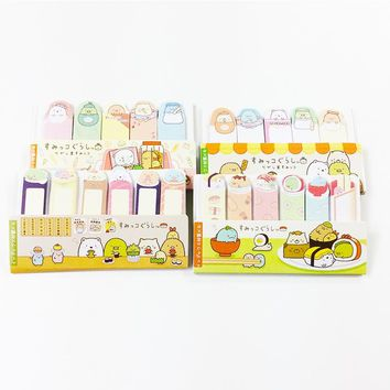 90 Pcs/pack Mini Cute  Cartoon Sushi Animals Memo Pad Sticky Notes Memo Notebook Stationery Bookmake sticker School Supplies