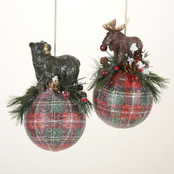 Christmas Ornament - Tartan Plaid Ball
