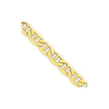 14K Yellow Gold 5.10mm Anchor Chain Necklace - Fine Jewelry Gift
