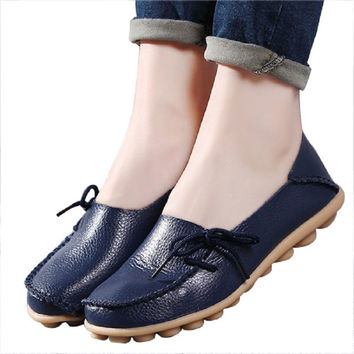 Streetstyle  Casual Woman Flat Shoes Breathable Soft Bottom Wild women Flat Shoes