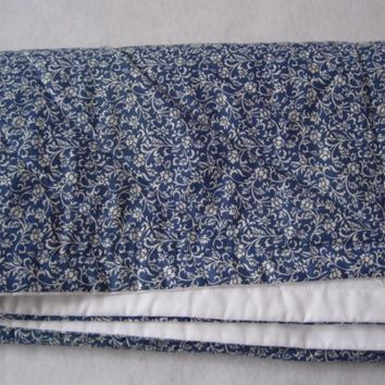 organic baby quilt / eco friendly kids bedding in delft sapphire blueberry indigo blue (LAST ONE)
