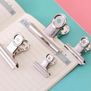 DCCKL72 binder clip office paper stainless steel white metal clips sizes  29mm 36mm 50mm 61mm office & school supplies stationery