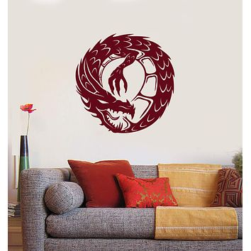 Vinyl Wall Decal Dragon Infinity Fantasy Mythical Creature Kids Room Interior Stickers Mural (ig5848)