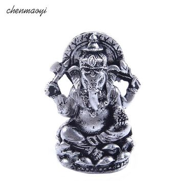 India Buddha Statue Mini Resin Seated Ganesh Buddha Deity Elephant Hindu Statue home decoration accessories