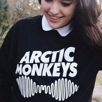 Kiwi Women Spring Arctic Monkeys Casual Printed Hipster Music Punk Style Hoodies Moletom Harajuku Long Sleeve Sweatshirts